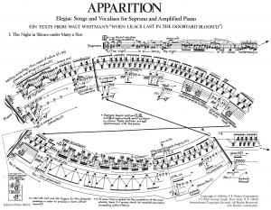 first page of score to 'Apparition'