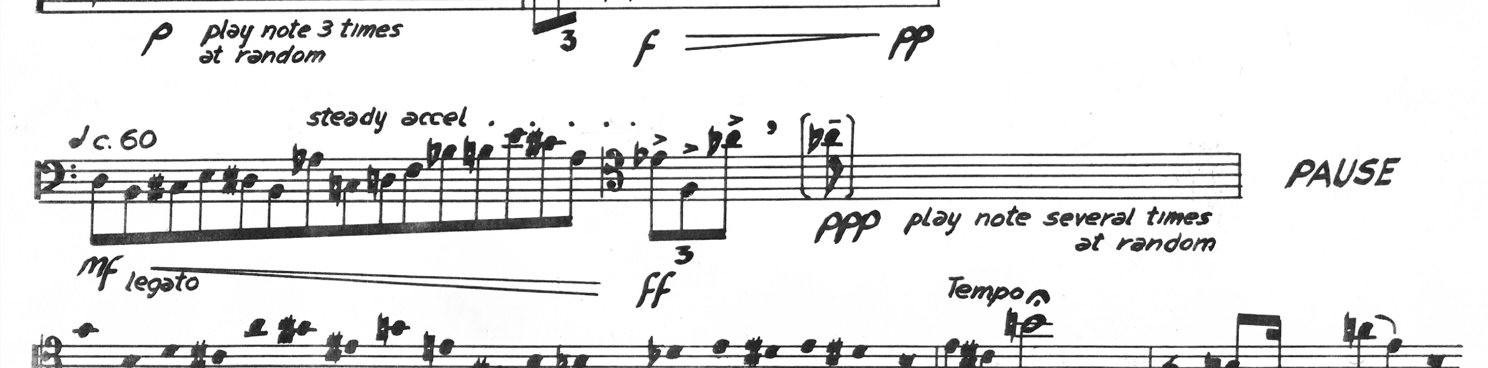 Excerpt from Sonata for Solo Trombone by Barney Childs